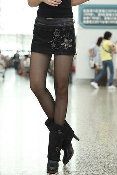 0291 women's 2013 autumn diamond mid waist slim butt lifting PU female pants leather short skirt-inSkirts from Apparel & Accessories on Aliexpress.com