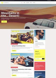 Travel WP Theme wordpress website template Wordpress Template, Wordpress Theme, Archive Website, Wordpress Website Design, Website Template, Family Travel, Travel Destinations, Web Design, Templates