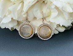 Honey Cameos with diamonds by YANA 💛 #yanajewellery #yanaraskovalova #cameo #cameobyyana #cameoearrings #earrings #earringsbyyana #diamond