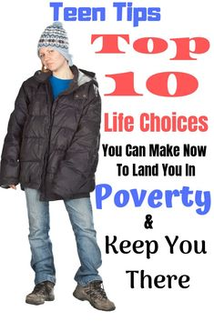 Are you a teenager trying to figure things out? Learn the top 10 life choices teens make that will have them living in poverty. Raising Teenagers, Parenting Teenagers, Single Parenting, Parenting Issues, Parenting Advice, Parenting Styles, Coping Skills, Life Skills, Social Skills