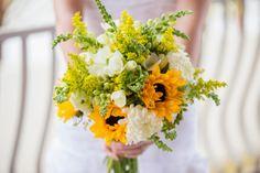 sunflower bouquet floral wedding
