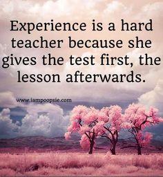 Experience quote via www.IamPoopsie.com