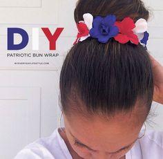 DIY Patriotic Bun Wrap