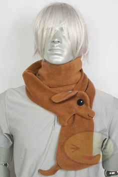 Weiner Dog Scarf Adorable Dachshund Cute Animal by lemonbrat, $27.99