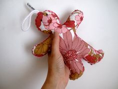 Giant Vintage GMan // Vintage Floral Plush by StampAndStitch, £6.00