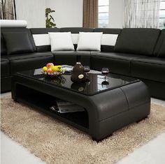 Moderna Black and White Bonded Leather Sectional Sofa, Design, Art Urbane, Art Urbane