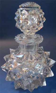 Antique Very Large Victorian Cut Glass Scent Perfume Bottle Decanter Antique Perfume Bottles, Vintage Perfume Bottles, Non Plus Ultra, Lovely Perfume, Bottle Art, Antique Glass, Cut Glass, Glass Bottles, Decanter