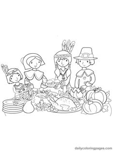 Happy thanksgiving coloring pages wwwmnitworkforceorg