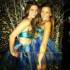 Prettiest Peacocks at the Costume Party ...This website is the Pinterest of costumes