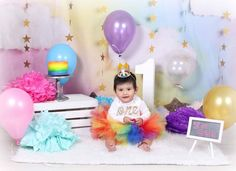 @avarymaeinspirations posted to Instagram: #girls1stbirthday #fluffytutu #firstbirthday #cakesmash #birthdaygirl #birthdayoutfit #tutubaby #avarymaeinspirations #toddlertutu #babytutu #customtutu #firstbirthdayparty #rainbowbaby #rainbowtut #smashcake #smashcakephotoshoot