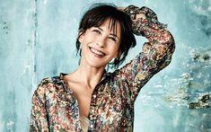 Download wallpapers Sophie Marceau, French actress, portrait, smile, fashion model