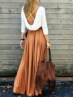 SHARE & Get it FREE | Spliced Back Criss-Cross Maxi Dress - OrangeFor Fashion Lovers only:80,000+ Items • New Arrivals Daily Join Zaful: Get YOUR $50 NOW!