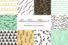 10 Seamless Hand Drawn Patterns V.3