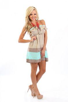 8f4b8c273d2 Modern Vintage Boutique - The Crush Striped Ruffle Dress