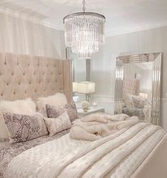 The way you decorate your home is somehow similar to choosing beautiful clothes to wear on a daily basis. An impressive interior decoration of your home or office is essential for your own state of mind, if nothing else. Fancy Bedroom, Pretty Bedroom, Room Ideas Bedroom, Home Decor Bedroom, Living Room Decor, Rich Girl Bedroom, Glam Bedroom, Cozy Room, Luxurious Bedrooms