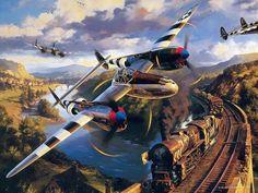 Patriotic War Aircraft Paintings of World War 2 Planes Paintings                                                                                                                                                     More