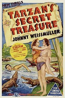 Tarzan's Secret Treasure is a 1941 Tarzan film based on the character created by Edgar Rice Burroughs. It is the fifth in the MGM Tarzan series to star Johnny Weissmuller and Maureen O'Sullivan. An expedition team arrives on Tarzan's escarpment. By chance, the two villainous members Medford (Tom Conway) and Vandermeer (Philip Dorn) find out that there is plenty of gold on the escarpment. They kidnap Jane and Boy in order to make Tarzan show them the location of the gold.