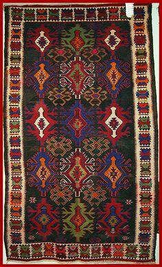 Kurdish wool kilim from Mount Ararat