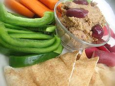 Marinated Sun-Dried Tomato Hummus with Olives | Lisa's Kitchen | Vegetarian Recipes | Cooking Hints | Food & Nutrition Articles