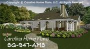 CHP-SG-947-AMS<br />Small Country Guest Cottage House Plan <br />2 Br, 2 Baths, 1 Story