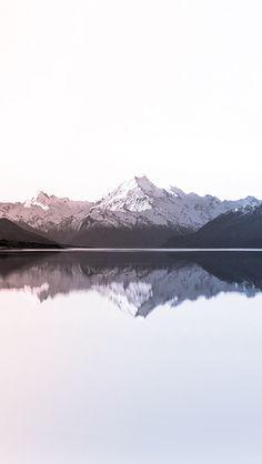 iPhone wallpaper serenity rose quartz Pantone 2016 mountains