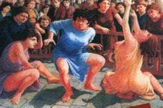 Il tarantismo si fa arte nelle tele di Luigi Caiuli. Il pittore Leccese diplomato presso l'Istituto d'Arte della medesima città  che per primo tra i gli artisti meridionali,  si è prestato a dare una raffigurazione artistica al fenomeno del Tarantismo.