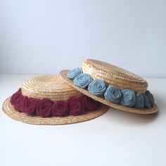 Image of Canotier Bajo Emma Head Accessories, Fashion Accessories, Love Crochet, Crochet Hats, 1930s Hats, Pearl Shoes, Boater Hat, Diy Hat, Cool Hats