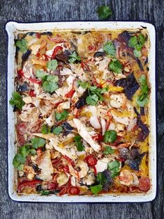 Frugal Food Items - How To Prepare Dinner And Luxuriate In Delightful Meals Without Having Shelling Out A Fortune Traybaked Keralan Fish Curry Jamie Oliver Food Jamie Oliver Uk Curry Recipes, Fish Recipes, Seafood Recipes, Indian Food Recipes, Cooking Recipes, Healthy Recipes, Recipies, Jamie's Recipes, Primal Recipes