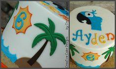 Another Rio smash cake idea Rio Birthday Cake, Rio Birthday Parties, 3rd Birthday, Birthday Ideas, Rio Cake, Rio Party, Rio Movie, Movie Cakes, Awesome Cakes