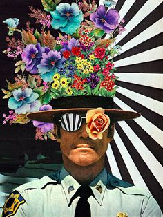 Eugenia Loli creates some seriously trippy collages. The California-based artist specializes in collage, combining vintage photos and illustrations . Art Inspo, Kunst Inspo, Inspiration Art, Art Du Collage, Surreal Collage, Surreal Art, Art Collages, Image Collage, Flower Collage