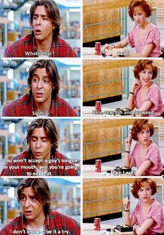 """I don't know. Give it a try."" Best line in the whole movie. #thebreakfastclub"