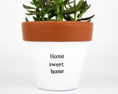 Modern personalized eco-friendly plant pots & by ChickadeePots Thank You Teacher Gifts, Teacher Christmas Gifts, Teacher Appreciation Gifts, Plant Pots, Succulent Pots, Potted Plants, Boho Chic Living Room, Congratulations Gift, Garden Gifts