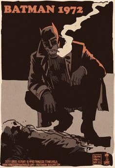 batman 1972 poster 7   Batman 1972   vintage poster photo parodie image grindhouse Francesco Francavilla detournement catwoman Batman