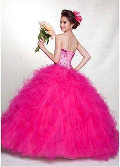 Elegant Satin & Tulle & Organza Sweetheart Neckline Floor-length Ball Gown Prom Dress