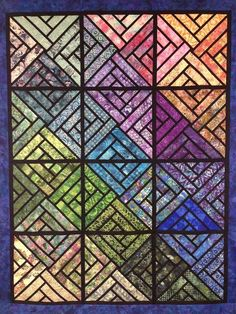 Fractured Paint Box ~Quiltworx.com, made by CI Anne Hall Box Patterns, Quilt Patterns, Pattern Ideas, Quilting Ideas, Anne Hall, Stained Glass Quilt, Foundation Paper Piecing, Painted Boxes, Quilt Tutorials