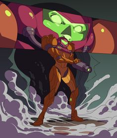 manalon:  Day 22 of Villain Month - SA-X from Metroid Fusion.  Before Alien: Isolation and Dead Space doing survival horror in space you had Metroid Fusion scaring the shit out of gamers with the SA-X encounters.