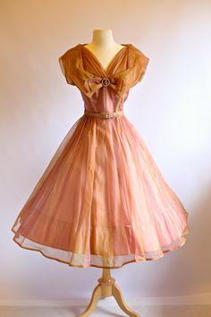 Vintage 1950s Party Dress  Vintage 50s Prom Dress by xtabayvintage