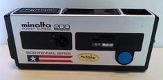Vintage Minolta 200 Pocket Autopak Bicentennial Camera 1976 Retro Great Shape! #Minolta