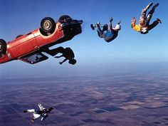 Go skydiving, with an experienced professional, and without a car dropping to it's doom.