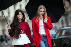 MFW: Seeing red on the street of Milan