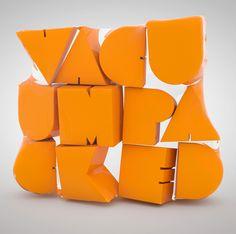 Vaccum packed type by Txaber , via Behance