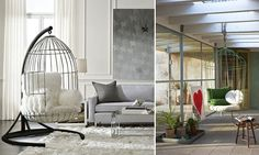An example of using the birdcage motif: a cage chair. A sense of cosiness and protection are guaranteed with such furniture www. novate.ru. #interdema #cages #cagechair #decor #homedecor #homedecoration #декор #декордлядома #предметыинтерьера