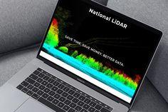 New website for National LiDAR Design Projects, Website