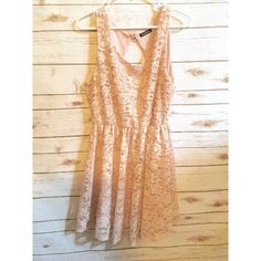 Lace Blush Dress Worn once. Bought from hazelandolive. Size large. Perfect for summer and the fall season! Would be great for homecoming, a day out, parties, sorority functions, and more!   ✨ No negotiations on items $10 and under. Use bundle feature for discount on multiple items. ✨ Dresses