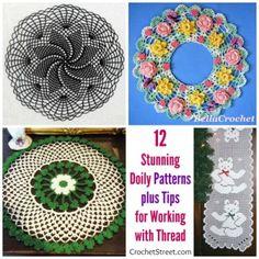 12 Stunning Doily #crochet patterns plus Tips for Working with Crochet Thread @crochetmemories | CrochetStreet.com