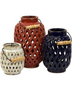 IMAX Bailey Lattice Candle Lanterns - Set of 3 from Hayneedle | BHG.com Shop