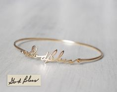 Actual Handwriting Bracelet Personalized Signature For Her Memorial Jewelry Meaningful Bridesmaid Pb05