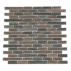 This one might be perfect!  Glass Tile - Mixed Size Glass Tile Strips Sticks Glass Tile Linen Bamboo Mosaic - GA4005 Linen Bamboo Earth Gray Blend - Glossy