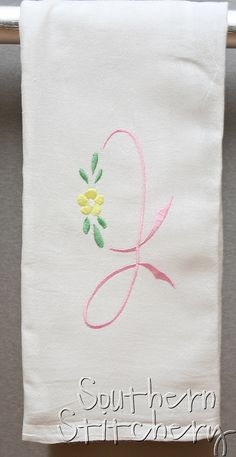 Monogram Hand Towel Kitchen Towel Perfect by SouthernStitchery, $8.50
