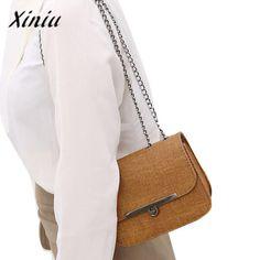 Xiniu Women Messenger Bags Sac A Main Solid Iron Side Screw Lock Shoulder  Bags Women Artificial 801ee2647f54